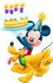 Стикер Мики Маус и Плуто - Рожден ден