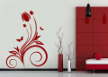 Декоративен стикер - Лале и пеперуди