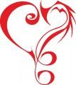 Декоративен стикер Сърце 2