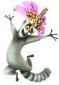 Стикери Мадагаскар - Крал Джулиан