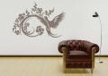 Декоративен стикер - Орнамент цветя и птици