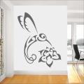 Декоративен стикер - Цвете Колибри
