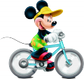 Стикер Мики Маус  - Мики кара колело
