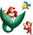Стикер Малката русалка - Ариел и приятели 1