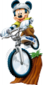 Стикер Мики Маус кара колело