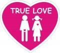 Стикер TRUE LOVE