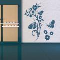 Декоративен стикер - Цветя и пеперуди 3