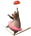 Стикери Мадагаскар - Глория в цирка 2-