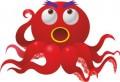 Серия смешни животни октопод