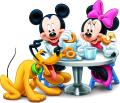Мики Маус с Мини и Плуто - закуска