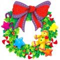 Коледа - коледна играчка-венец2