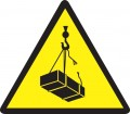 Предупреждаващ знак - Опасност от падане на окачени товари