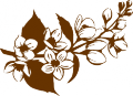 Декоративен стикер - Цветя - Цъфнала бадемова клонка