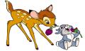 Стикери Бамби - Бамби и Зайче-