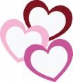 Декоративен стикер Сърца