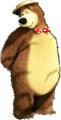 Стикер Маша и мечока -  Мечока 31-