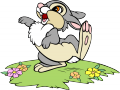 Стикери Бамби - Зайче-