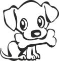 Декоративен стикер - Кучета - 002