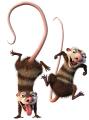 Стикер Ледена епоха  - Опосуми – Краш и Еди