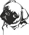 Декоративен стикер - Кучета - 0023