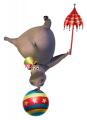 Стикери Мадагаскар - Глория в цирка