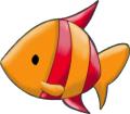 Стикер Малката русалка - Ариел -  Рибка 3
