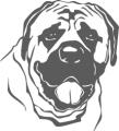 Декоративен стикер - Кучета - 0022