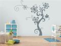 Декоративен стикер -  Дървото на цветята