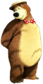 Стикер Маша и мечока -  Мечока 31