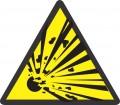 Предупреждаващ знак - Взривоопасен материал или опасност от експлозия