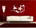 Декоративен стикер - Цветя и Колибри