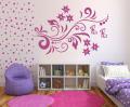 Декоративен стикер - Цветя и пеперуди