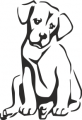 Декоративен стикер - Кучета - 0013