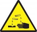 Предупреждаващ знак - Разяждащ материал