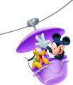 Мики Маус и Плуто в лунапарка