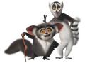 Стикери Мадагаскар - Крал Джулиан 3-