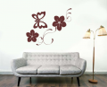 Декоративен стикер - Цветя и пеперуди 2