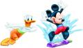 Стикер Мики Маус и Доналд - Водно забавление