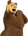 Стикер Маша и мечока -  Мечока 25