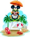 Стикер Мики Маус - Спасител на плажа