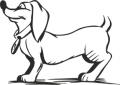 Декоративен стикер - Кучета - 0018
