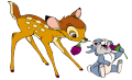 Стикери Бамби - Бамби и Зайче