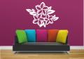 Декоративен стикер - Флорален мотив с пеперуда