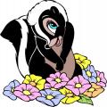 Стикери Бамби - скунксчето Цвете
