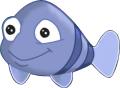 Стикер Малката русалка - Ариел -  Рибка 2